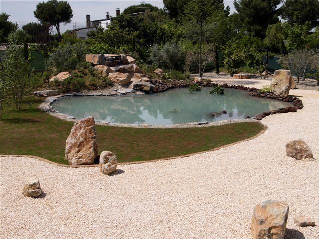 estanques en los jardines