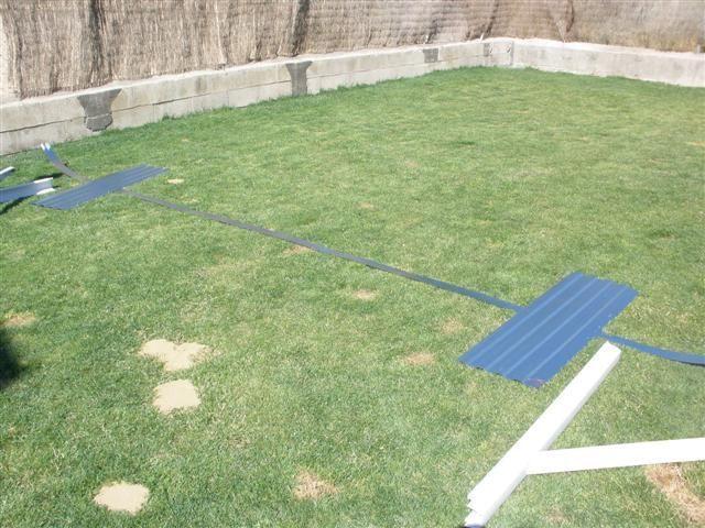 Montaje de una piscina desmontable blog garden center ejea for Tensor lona piscina